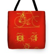 Bicycle Patent Drawing 4c Tote Bag