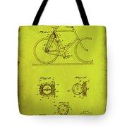 Bicycle Patent Drawing 4d Tote Bag