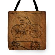 Bicycle Patent From 1890 Tote Bag
