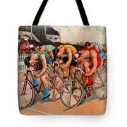 Bicycle Race 1895 Tote Bag