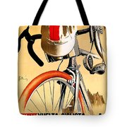 Bicycle Race, Catalonia, Vintage Travel Poster Tote Bag