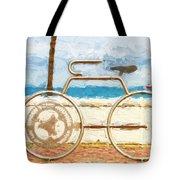 Seaside Bicycle Stand Tote Bag