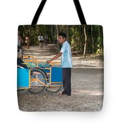Bicycle Taxi Inside The Coba Ruins  Tote Bag