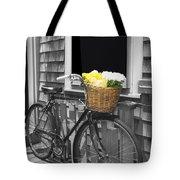 Bicycle With Flower Basket Tote Bag
