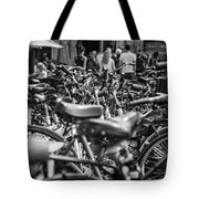 Bicycles Amsterdam Black And White Tote Bag