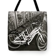 Bicycles In Belmont Shore Tote Bag