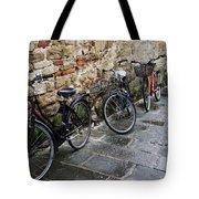 Bicycles In Rome Tote Bag