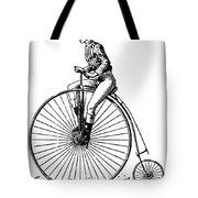 Bicycling, C1890 Tote Bag by Granger