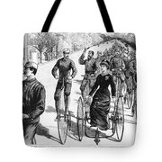 Bicyclist Meeting, 1884 Tote Bag