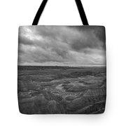 Big Badlands Overlook Panorama 2 Bw Tote Bag