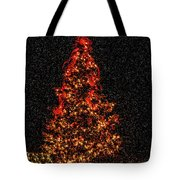 Big Bear Christmas Tree Tote Bag