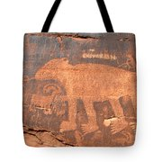 Big Bear Petroglyph Tote Bag