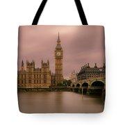 Big Ben And Westminster Bridge, London Tote Bag