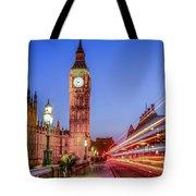 Big Ben By Night Tote Bag