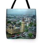 Big Ben From The London Eye Tote Bag