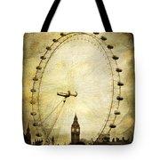 Big Ben In The London Eye Tote Bag