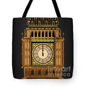 Big Ben Striking Midnight Tote Bag