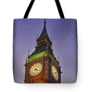Big Ben Twilight In London Tote Bag