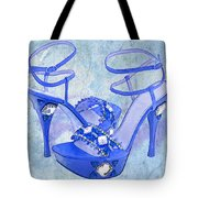 Big Blue Bling  Tote Bag
