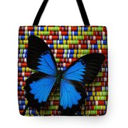 Big Blue Butterfly Tote Bag