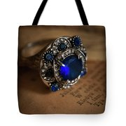 Big Blue Ornamented Ring Tote Bag