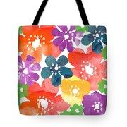 Big Bright Flowers Tote Bag
