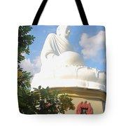 Big Buddha Statue At The Long Son Pagoda In Nha Trang Vietnam Tote Bag