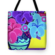 Big Colorful Lillies Tote Bag
