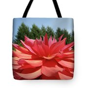 Big Dahlia Flower Blooming Summer Floral Art Prints Baslee Troutman Tote Bag