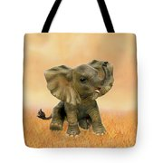 Beautiful African Baby Elephant Tote Bag