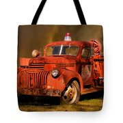 Big Fire - Old Fire Truck Tote Bag