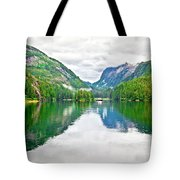 Big Mountain Reflections In Patterson Bay Alaska Tote Bag