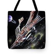 Big, Old Space Shuttle Of Dead Civilization Tote Bag