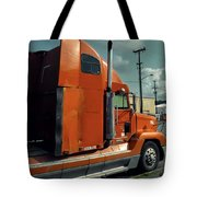 Big Orange Truck Tote Bag