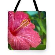Big Pink Hibiscus Tote Bag