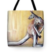 Big Red  Kangaroo Tote Bag