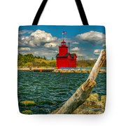 Big Red Lighthouse In Michigan Tote Bag