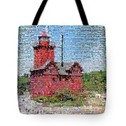 Big Red Photomosaic Tote Bag
