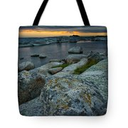 Big Rocks And Storm Clouds Tote Bag