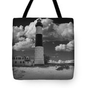 Big Sable Lighthouse Under Cloudy Skies Tote Bag