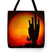 Big Saguaro Sunset Tote Bag
