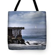 Big Sea Small Boat Tote Bag