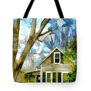 Big Tree Standing Tall In The Front Yard Tote Bag