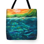 Big Tropical Wave Tote Bag