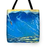 Big Wave Tote Bag by Douglas Simonson
