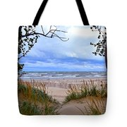 Big Waves On Lake Michigan 2.0 Tote Bag