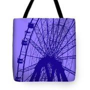Big Wheel Blue Tote Bag