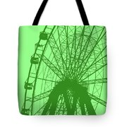 Big Wheel Green Tote Bag