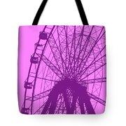 Big Wheel Purple Tote Bag