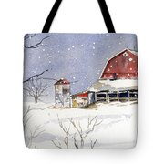 Big White Horse Tote Bag